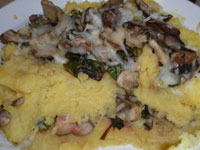 Baked Polenta with Mushrooms and Swiss Chard